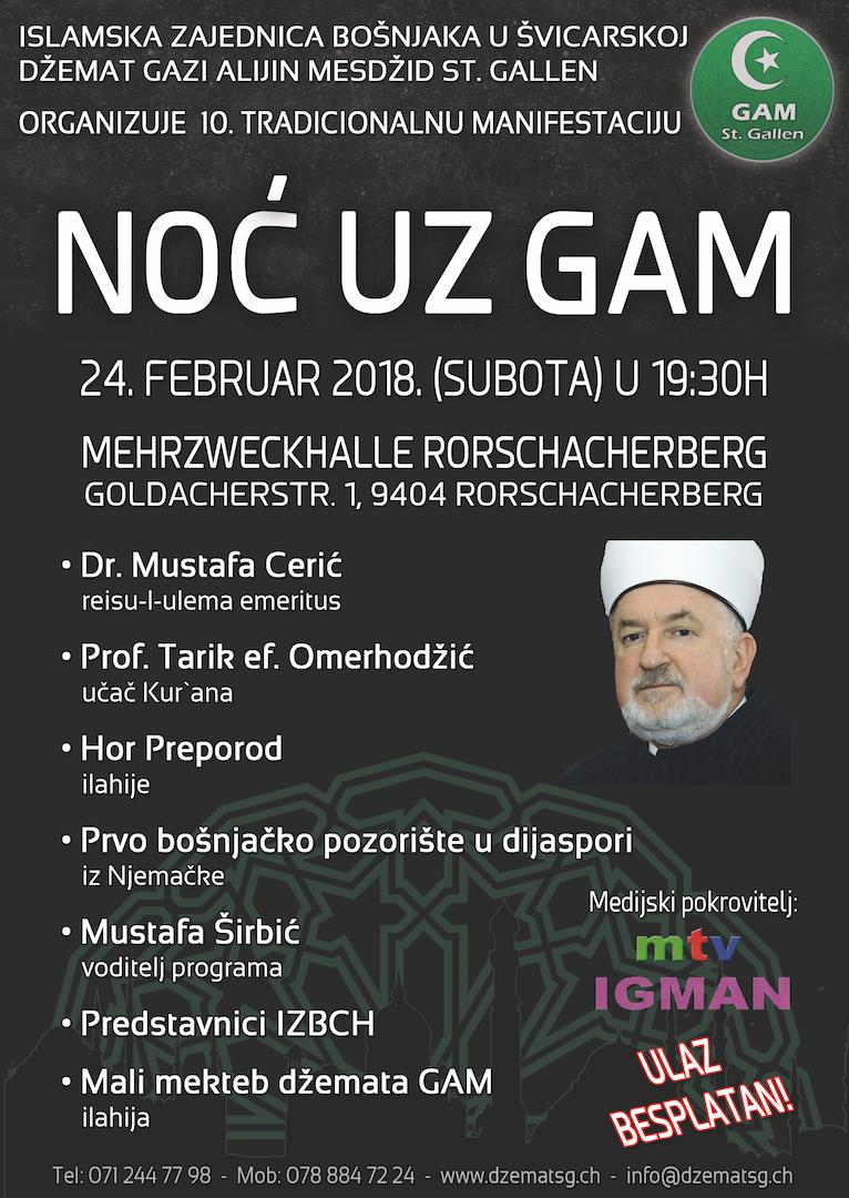 Noć uz GAM @ Mehrzwezkhalle Rorschacherberg | Rorschacherberg | Sankt Gallen | Švicarska
